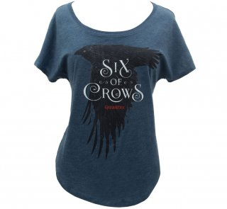 <img class='new_mark_img1' src='https://img.shop-pro.jp/img/new/icons14.gif' style='border:none;display:inline;margin:0px;padding:0px;width:auto;' />Leigh Bardugo / Six of Crows Relaxed Fit Tee (Indigo) (Womens)