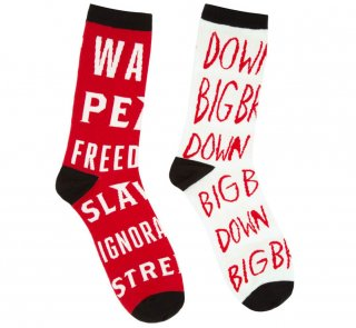 <img class='new_mark_img1' src='https://img.shop-pro.jp/img/new/icons14.gif' style='border:none;display:inline;margin:0px;padding:0px;width:auto;' />George Orwell / 1984 Mismatched Socks