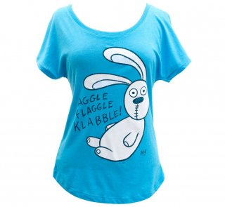 <img class='new_mark_img1' src='https://img.shop-pro.jp/img/new/icons14.gif' style='border:none;display:inline;margin:0px;padding:0px;width:auto;' />Mo Willems / Knuffle Bunny Relaxed Fit Tee (Vintage Turquoise) (Womens)