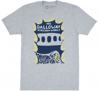Virginia Woolf / Mrs Dalloway Tee (Heather Grey)