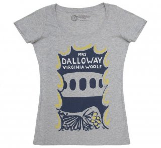 Virginia Woolf / Mrs Dalloway Scoop Neck Tee (Heather Grey) (Womens)