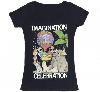 Maurice Sendak / IMAGINATION CELEBRATION Scoop Neck Tee (Midnight Navy) (Womens)