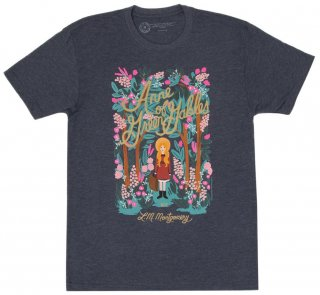 L. M. Montgomery / Anne of Green Gables Tee [Puffin in Bloom] (Vintage Navy)