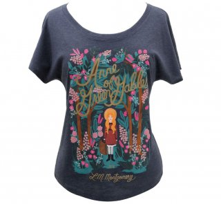 L. M. Montgomery / Anne of Green Gables Relaxed Fit Tee [Puffin in Bloom] (Vintage Navy) (Womens)