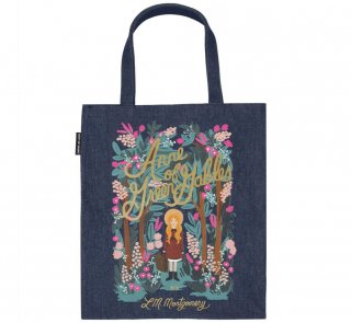 L. M. Montgomery / Anne of Green Gables Tote Bag [Puffin in Bloom] (Dark Blue Denim)