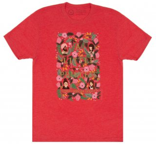 Frances Hodgson Burnett / A Little Princess Tee [Puffin in Bloom] (Vintage Red)