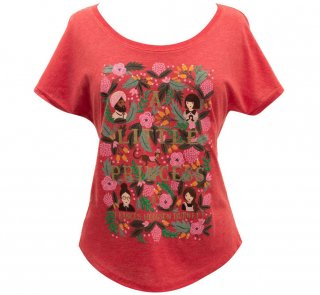 Frances Hodgson Burnett / A Little Princess Relaxed Fit Tee [Puffin in Bloom] (Vintage Red) (Womens)