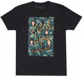 Louisa May Alcott / Little Women Tee [Puffin in Bloom] (Vintage Black)
