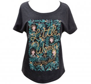 <img class='new_mark_img1' src='https://img.shop-pro.jp/img/new/icons14.gif' style='border:none;display:inline;margin:0px;padding:0px;width:auto;' />Louisa May Alcott / Little Women Relaxed Fit Tee [Puffin in Bloom] (Vintage Black) (Womens)