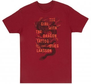 Stieg Larsson / The Girl with the Dragon Tattoo Tee (Cardinal Red)
