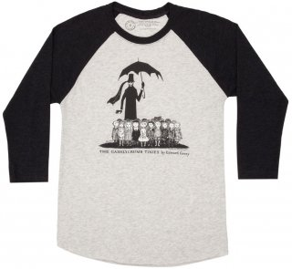 Edward Gorey / The Gashlycrumb Tinies Raglan Tee (Heather White/Black)