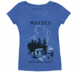 Henry David Thoreau / Walden Scoop Tee (Vintage Royal) (Womens)<img class='new_mark_img2' src='https://img.shop-pro.jp/img/new/icons56.gif' style='border:none;display:inline;margin:0px;padding:0px;width:auto;' />