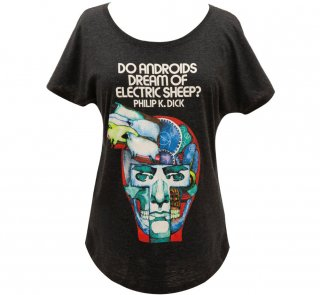 Philip K. Dick / Do Androids Dream of Electric Sheep? Relaxed Fit Tee (Vintage Black) (Womens)
