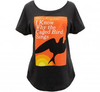 <img class='new_mark_img1' src='https://img.shop-pro.jp/img/new/icons14.gif' style='border:none;display:inline;margin:0px;padding:0px;width:auto;' />Maya Angelou / I Know Why the Caged Bird Sings Relaxed Fit Tee (Vintage Black) (Womens)