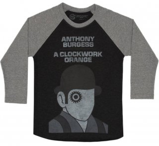 <img class='new_mark_img1' src='https://img.shop-pro.jp/img/new/icons14.gif' style='border:none;display:inline;margin:0px;padding:0px;width:auto;' />Anthony Burgess / A Clockwork Orange Raglan Tee (Black/Heather Grey)