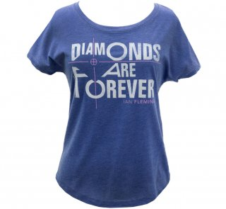 Ian Fleming / Diamonds Are Forever Relaxed Fit Tee (Vintage Royal) (Womens)