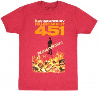 Ray Bradbury / Fahrenheit 451 Tee 2 (Red)<img class='new_mark_img2' src='https://img.shop-pro.jp/img/new/icons57.gif' style='border:none;display:inline;margin:0px;padding:0px;width:auto;' />
