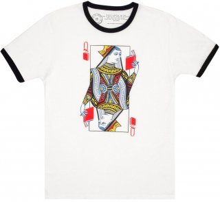<img class='new_mark_img1' src='https://img.shop-pro.jp/img/new/icons14.gif' style='border:none;display:inline;margin:0px;padding:0px;width:auto;' />Queen of Books Ringer Tee (White/Black)