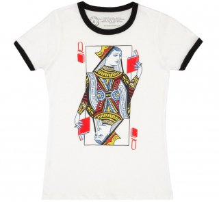 <img class='new_mark_img1' src='https://img.shop-pro.jp/img/new/icons14.gif' style='border:none;display:inline;margin:0px;padding:0px;width:auto;' />Queen of Books Ringer Tee (White/Black) (Womens)