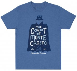Alexandre Dumas / The Count of Monte Cristo Tee (Vintage Royal Blue)