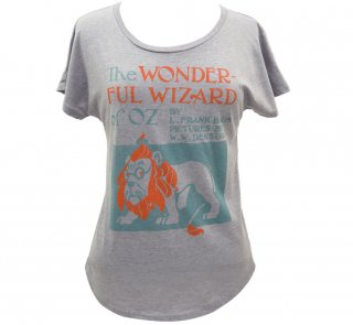 L. Frank Baum / The Wonderful Wizard of Oz Relaxed Fit Tee (Heather Grey) (Womens)
