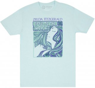 <img class='new_mark_img1' src='https://img.shop-pro.jp/img/new/icons14.gif' style='border:none;display:inline;margin:0px;padding:0px;width:auto;' />Zelda Sayre Fitzgerald / Save Me the Waltz Tee (Ice Blue)