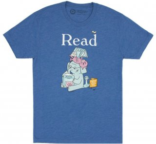 Mo Willems / Read with Elephant & Piggie, and The Pigeon Tee (Royal Blue)