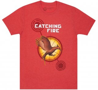 Suzanne Collins / Catching Fire Tee (Vintage Red)