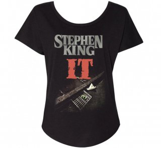 <img class='new_mark_img1' src='https://img.shop-pro.jp/img/new/icons14.gif' style='border:none;display:inline;margin:0px;padding:0px;width:auto;' />Stephen King / It Womens Relaxed Fit Tee (Black)