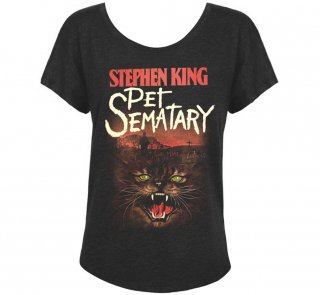<img class='new_mark_img1' src='https://img.shop-pro.jp/img/new/icons14.gif' style='border:none;display:inline;margin:0px;padding:0px;width:auto;' />Stephen King / Pet Sematary Womens Relaxed Fit Tee (Vintage Black)
