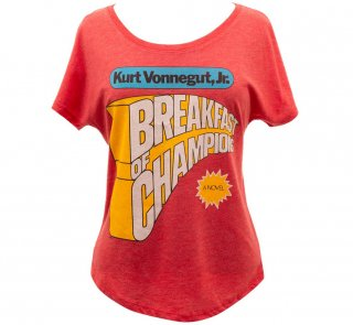 <img class='new_mark_img1' src='https://img.shop-pro.jp/img/new/icons14.gif' style='border:none;display:inline;margin:0px;padding:0px;width:auto;' />Kurt Vonnegut / Breakfast of Champions Womens Relaxed Fit Tee (Vintage Red)