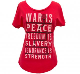 <img class='new_mark_img1' src='https://img.shop-pro.jp/img/new/icons14.gif' style='border:none;display:inline;margin:0px;padding:0px;width:auto;' />George Orwell / 1984 Womens Relaxed Fit Tee (Red)