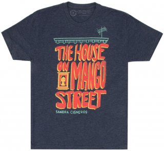 <img class='new_mark_img1' src='https://img.shop-pro.jp/img/new/icons14.gif' style='border:none;display:inline;margin:0px;padding:0px;width:auto;' />Sandra Cisneros / The House on Mango Street Tee (Navy Blue)