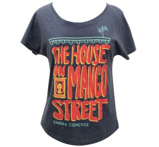 <img class='new_mark_img1' src='https://img.shop-pro.jp/img/new/icons14.gif' style='border:none;display:inline;margin:0px;padding:0px;width:auto;' />Sandra Cisneros / The House on Mango Street Womens Relaxed Fit Tee (Navy Blue)