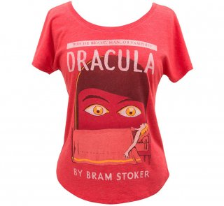 <img class='new_mark_img1' src='https://img.shop-pro.jp/img/new/icons14.gif' style='border:none;display:inline;margin:0px;padding:0px;width:auto;' />Bram Stoker / Dracula Womens Relaxed Fit Tee (Red)