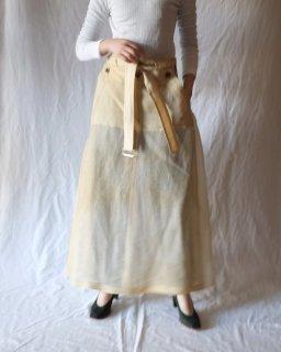 FUMIKA UCHIDA:Silk/Nylon See Through Over Apron