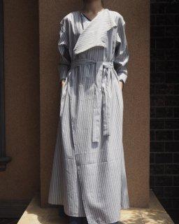 Cristaseya: Asymmetrical Striped Dress