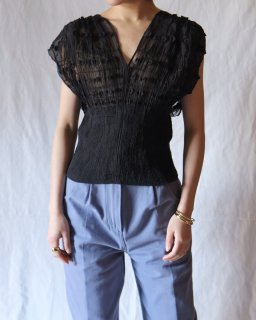 Mame : Geometry Shirring Tops