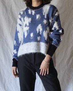 Mame:Lame Jacquard Knit Pullover