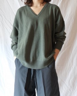 Cristaseya:Cashmere V Neck 2Yarns Sweater