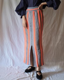 Mame:Stripe HAMAGURI Knit Skirt