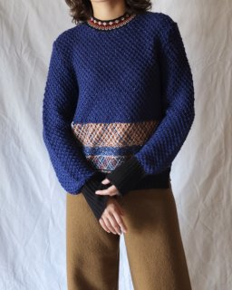 Mame:Lame Tweed Knit Pullover