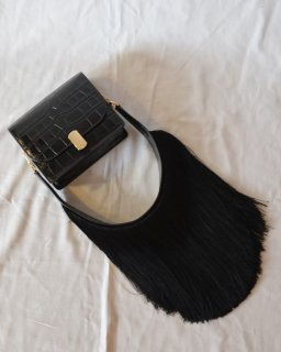 Hillier Bartley:Mini Satchel With Fringed Strap
