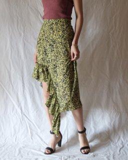 rokh: Midi Skirt With Frill
