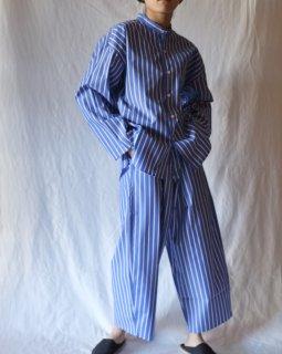 Cristaseya:Striped Japanese Cotton Moroccan Pyjama Pants