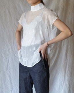 Mame:Rame Short Sleeve Top - WHITE