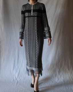 Mame:Knit Long Sleeve One-Piece