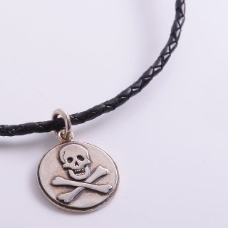 skull coin pendant top
