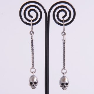 skull dangle earrings
