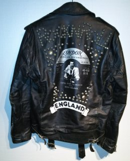 LA ROCKA! EDDIE COCHRAN Studded Leather Biker Jacket